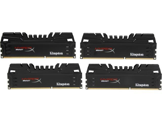 HyperX Beast 16GB (4 x 4GB) 240-Pin DDR3 SDRAM DDR3 1600 (PC3 12800) Desktop Memory Model KHX16C9T3K4/16X