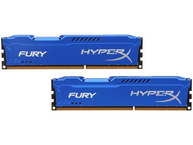HyperX Fury Series 16GB (2 x 8GB) 240-Pin DDR3 SDRAM DDR3 1333 (PC3 10600) Desktop Memory Model HX313C9FK2/16