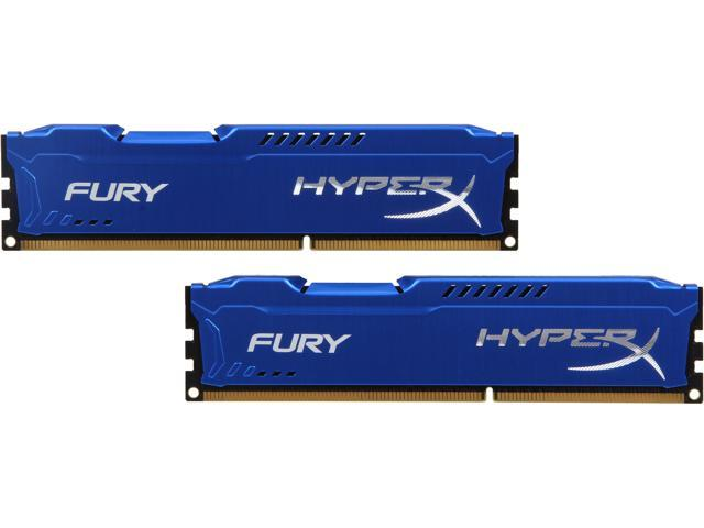 HyperX Fury Series 8GB (2 x 4GB) 240-Pin DDR3 SDRAM DDR3 1333 (PC3 10600) Desktop Memory Model HX313C9FK2/8