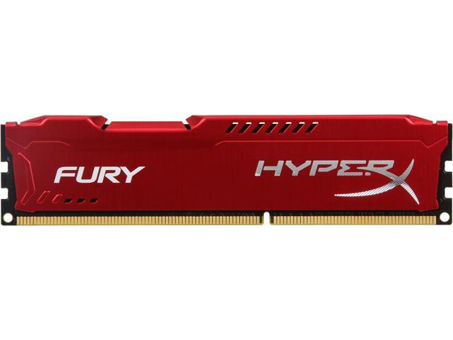 HyperX Fury Red Series 4GB 240-Pin DDR3 SDRAM DDR3 1333 (PC3 10600) Desktop Memory Model HX313C9FR/4