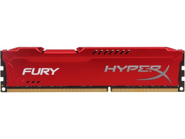 HyperX Fury Red Series 8GB 240-Pin DDR3 SDRAM DDR3 1333 (PC3 10600) Desktop Memory Model HX313C9FR/8