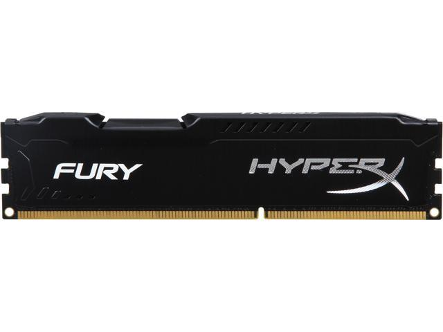 HyperX Fury Black Series 4GB 240-Pin DDR3 SDRAM DDR3 1600 (PC3 12800) Desktop Memory Model HX316C10FB/4