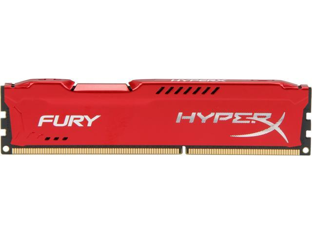 HyperX Fury Red Series 4GB 240-Pin DDR3 SDRAM DDR3 1600 (PC3 12800) Desktop Memory Model HX316C10FR/4
