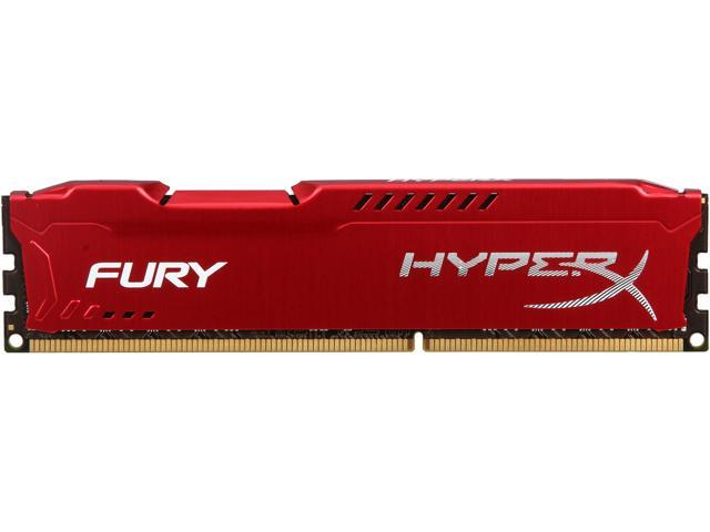 HyperX Fury Red Series 8GB 240-Pin DDR3 SDRAM DDR3 1600 (PC3 12800) Desktop Memory Model HX316C10FR/8