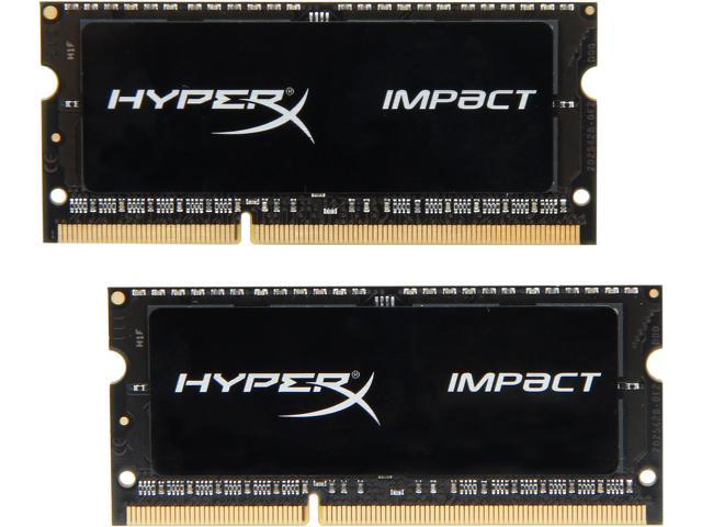 HyperX Impact Black Series 16GB (2 x 8G) 204-Pin DDR3 SO-DIMM DDR3 1600 (PC3 12800) Laptop MemoryModel HX316LS9IBK2/16