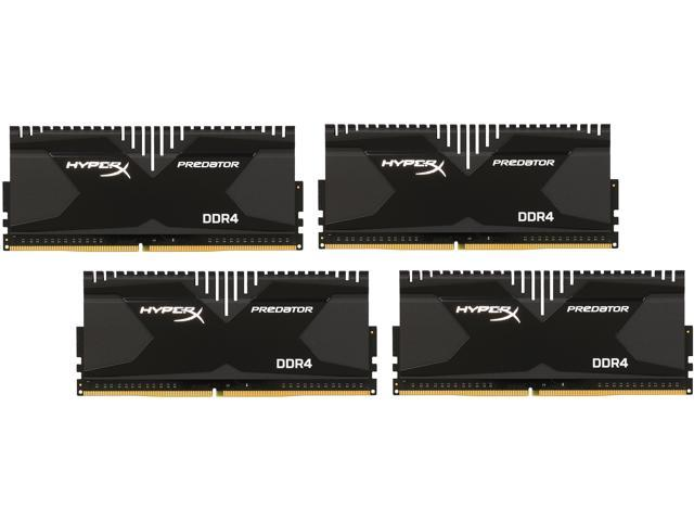 HyperX 16GB (4 x 4GB) 288-Pin DDR4 SDRAM DDR4 2400 (PC4-19200) Desktop Memory Model HX424C12PB2K4/16