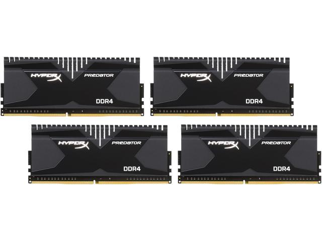 HyperX 16GB (4 x 4GB) 288-Pin DDR4 SDRAM DDR4 2666 (PC4-21300) Desktop Memory Model HX426C13PB2K4/16