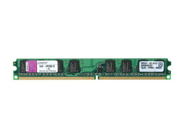Kingston 1GB 240-Pin DDR2 SDRAM DDR2 800 (PC2 6400) System Specific Memory Model KAC-VR208/1G