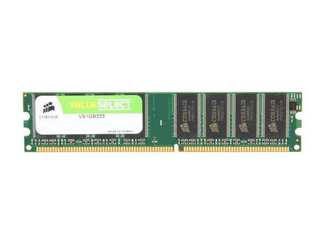 CORSAIR 1GB 184-Pin DDR SDRAM DDR 333 (PC 2700) Desktop Memory Model VS1GB333