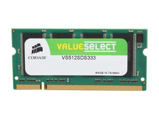 CORSAIR 512MB 200-Pin DDR SO-DIMM DDR 333 (PC 2700) Laptop Memory Model VS512SDS333