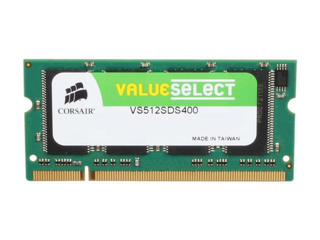 CORSAIR 512MB 200-Pin DDR SO-DIMM DDR 400 (PC 3200) Laptop Memory Model VS512SDS400