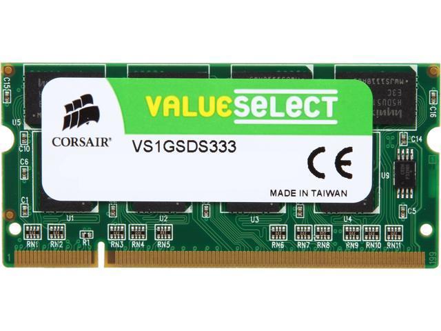 CORSAIR 1GB 200-Pin DDR SO-DIMM DDR 333 (PC 2700) Laptop Memory Model VS1GSDS333