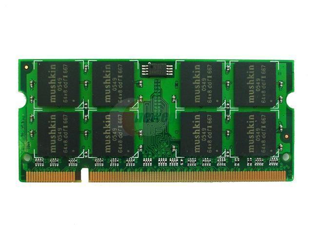 Mushkin Enhanced 512MB 200-Pin DDR SO-DIMM DDR 266 (PC 2100) Laptop Memory Model 990906