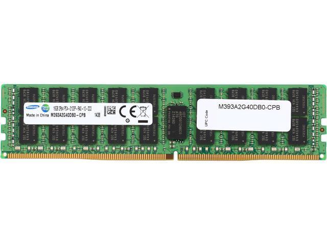 SAMSUNG 16GB 288-Pin DDR4 SDRAM ECC Registered DDR4 2133 (PC4-17000) Server Memory Model M393A2G40DB0-CPB