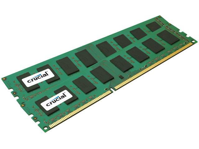 Crucial 8GB (2 x 4GB) 240-Pin DDR3 SDRAM ECC Unbuffered DDR3 1066 (PC3 8500) Desktop Memory Model CT2KIT51272BA1067