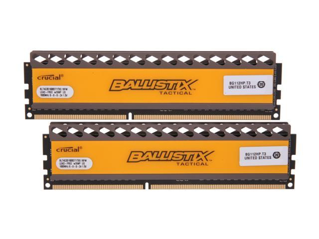 Crucial Ballistix Tactical 8GB (2 x 4GB) 240-Pin DDR3 SDRAM DDR3 1600 (PC3 12800) Desktop Memory Model BLT2KIT4G3D1608DT1TX0
