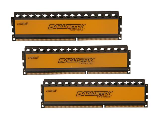 Crucial Ballistix Tactical 12GB (3 x 4GB) 240-Pin DDR3 SDRAM DDR3 1600 (PC3 12800) Desktop Memory Model BLT3KIT4G3D1608DT1TX0