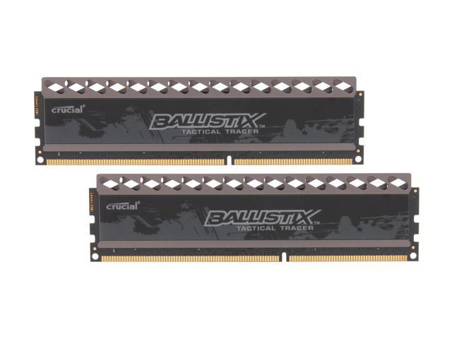 Crucial Ballistix Tactical Tracer 8GB (2 x 4GB) 240-Pin DDR3 SDRAM DDR3 1600 (PC3 12800) Desktop Memory (with Red/Green Light) Model ...