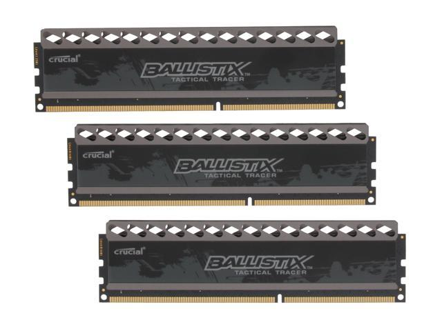 Crucial Ballistix Tactical Tracer 12GB (3 x 4GB) 240-Pin DDR3 SDRAM DDR3 1600 (PC3 12800) Desktop Memory (with LEDs) Model BLT3KIT4G3D1608DT2TXOB