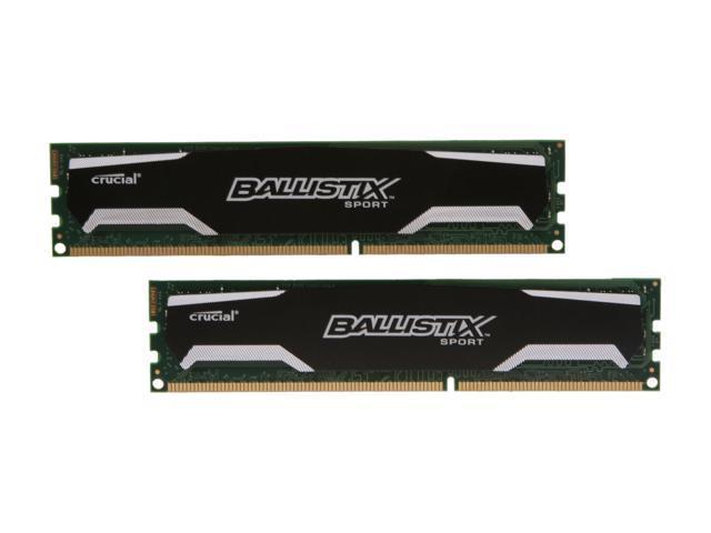 Crucial Ballistix Sport 8GB (2 x 4GB) 240-Pin DDR3 SDRAM DDR3 1333 (PC3 10600) Desktop Memory Model BLS2KIT4G3D1339DS1S00
