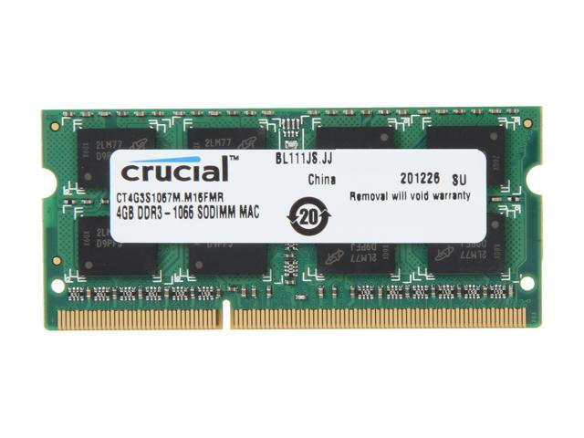 Crucial 4GB DDR3 1066 (PC3 8500) Memory for Apple Model CT4G3S1067M