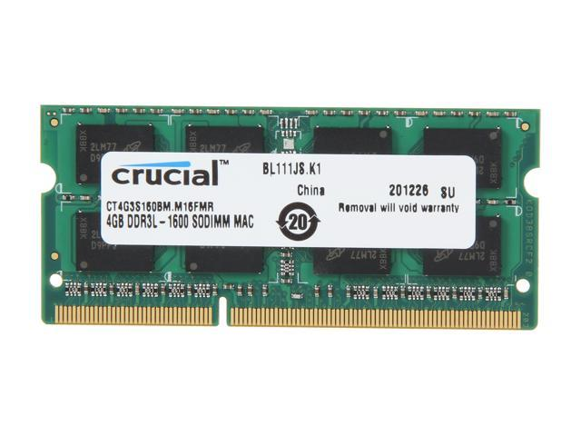 Crucial 4GB DDR3 1600 (PC3 12800) Memory for Apple Model CT4G3S160BM