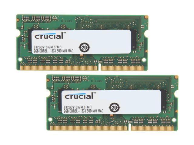 Crucial 4GB (2 x 2GB) DDR3 1333 (PC3 10600) Memory for Apple Model CT2K2G3S1339M