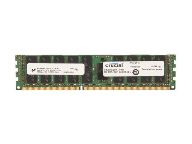 Crucial 8GB 240-Pin DDR3 SDRAM ECC Registered DDR3 1066 (PC3 8500) Server Memory Model CT8G3ERSLQ81067