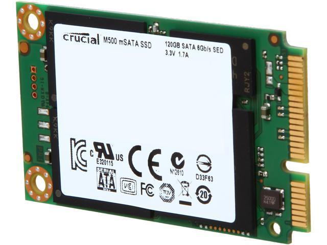 Crucial M500 CT120M500SSD3 120GB Mini-SATA (mSATA) MLC Internal Solid State Drive (SSD)