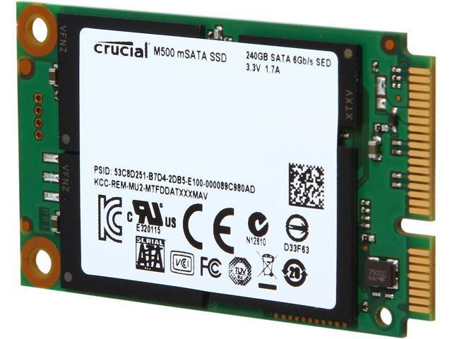 Crucial M500 CT240M500SSD3 240GB Mini-SATA (mSATA) MLC Internal Solid State Drive (SSD)