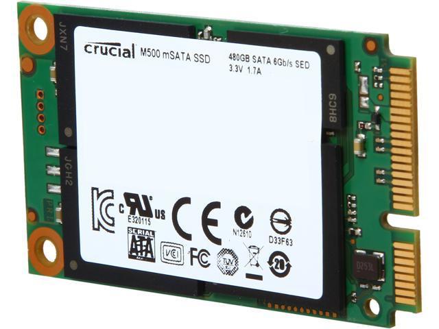 Crucial M500 CT480M500SSD3 480GB Mini-SATA (mSATA) MLC Internal Solid State Drive (SSD)