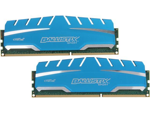 Crucial Ballistix Sport XT 16GB (2 x 8GB) 240-Pin DDR3 SDRAM DDR3 1600 (PC3 12800) Desktop Memory Model BLS2K8G3D169DS3