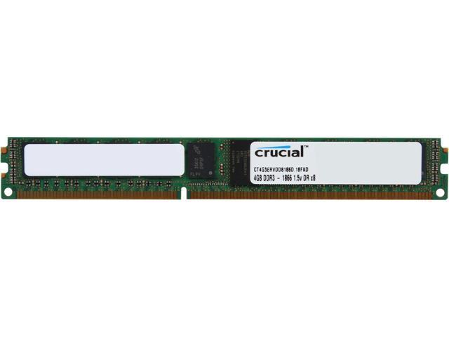 Crucial 4GB 240-Pin DDR3 SDRAM ECC Registered DDR3 1866 (PC3 14900) Server Memory Model CT4G3ERVDD8186D