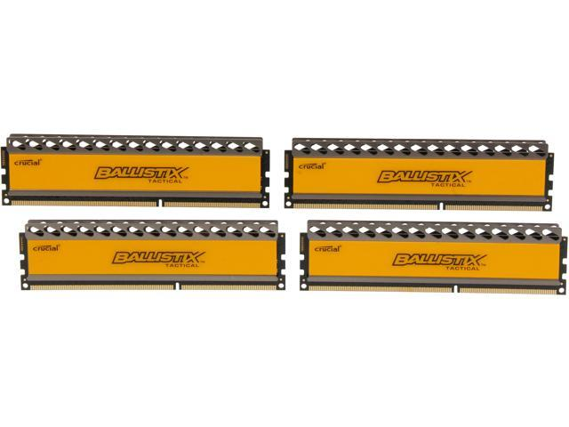 Crucial Ballistix Tactical 16GB (4 x 4GB) 240-Pin DDR3 SDRAM DDR3 1600 (PC3 12800) Desktop Memory Model BLT4KIT4G3D1608DT1TX0