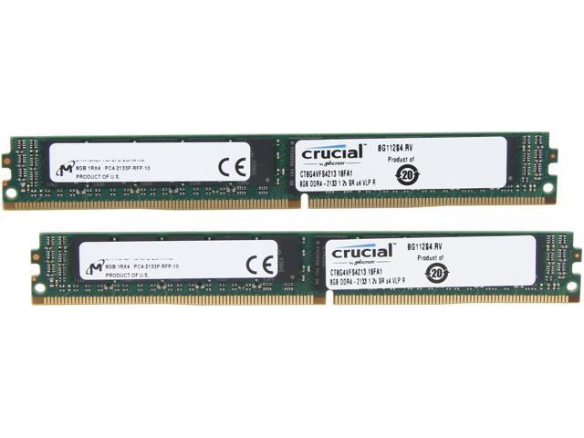 Crucial 16GB (2 x 8GB) 288-Pin DDR4 SDRAM ECC Registered DDR4 2133 (PC4-17000) Server Memory Model CT2K8G4VFS4213