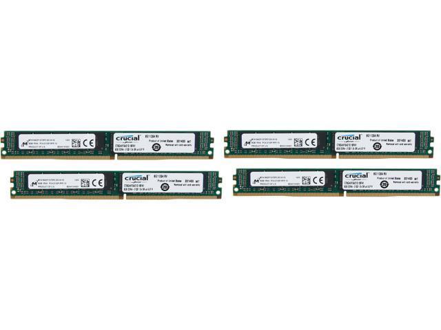 Crucial 32GB (4 x 8GB) 288-Pin DDR4 SDRAM ECC Registered DDR4 2133 (PC4-17000) Server Memory Model CT4K8G4VFS4213