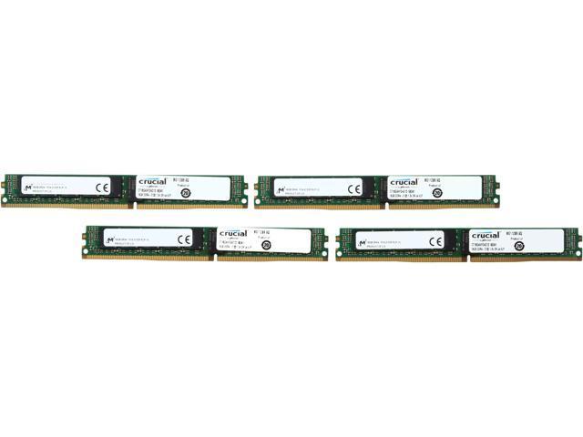 Crucial 64GB (4 x 16GB) 288-Pin DDR4 SDRAM ECC Registered DDR4 2133 (PC4-17000) Server Memory Model CT4K16G4VFD4213