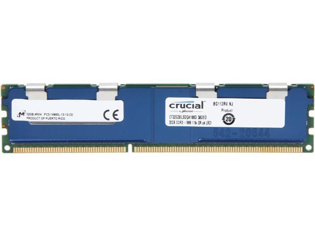 Crucial 32GB 240-Pin DDR3 SDRAM ECC DDR3 1866 (PC3 15000) Server Memory Model CT32G3ELSDQ4186D