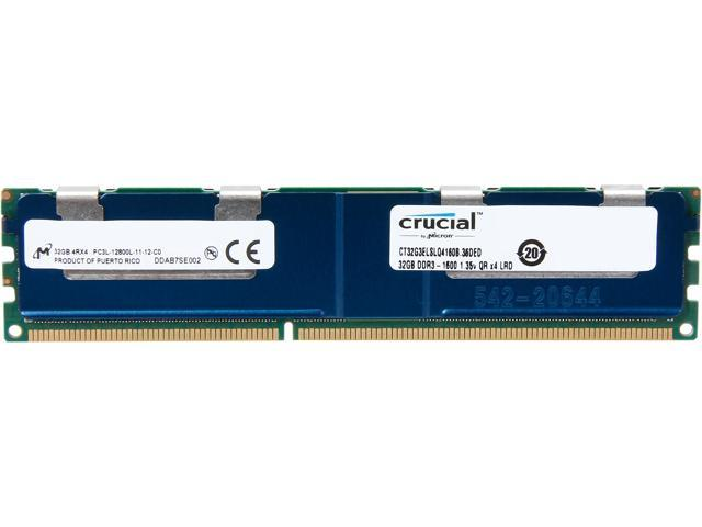 Crucial 32GB 240-Pin DDR3 SDRAM Home AudioModel CT32G3ELSLQ4160B