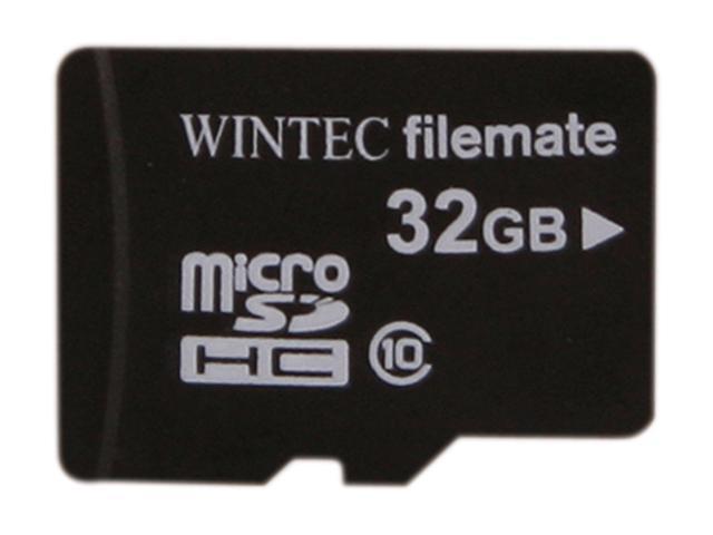 Wintec FileMate Mobile Professional 32GB microSDHC Flash Card Model 3FMUSD32GC10-SR
