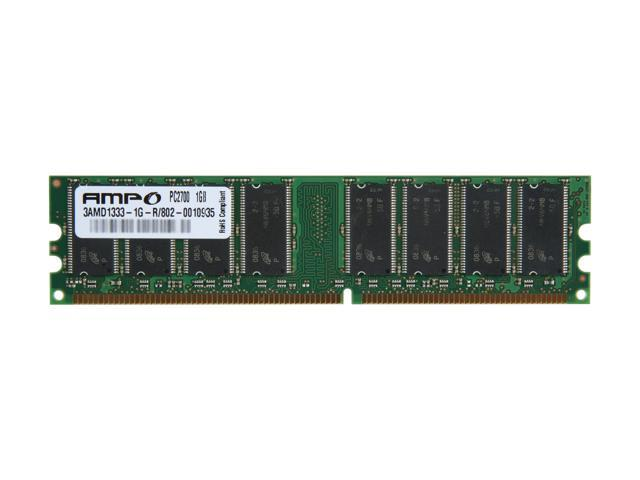 Wintec AMPO 1GB 184-Pin DDR SDRAM DDR 333 (PC 2700) Desktop Memory Model 3AMD1333-1G-R