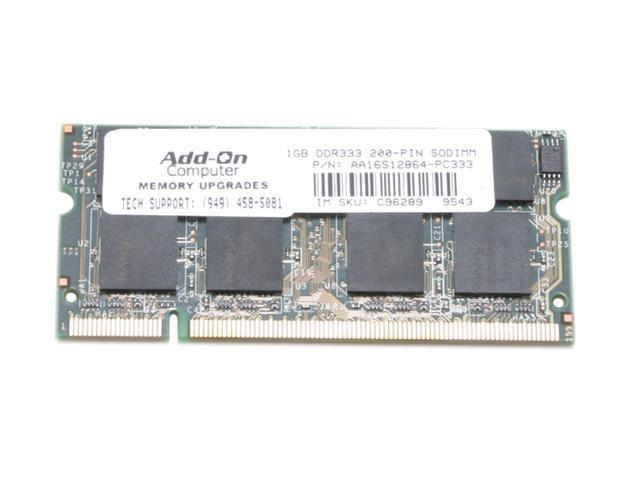 EP Memory 1GB 200-Pin DDR SO-DIMM DDR 333 (PC 2700) Laptop Memory Model AA16S12864-PC333