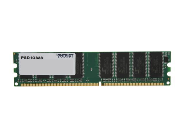Patriot Signature 1GB 184-Pin DDR SDRAM DDR 333 (PC 2700) System Memory Model PSD1G333