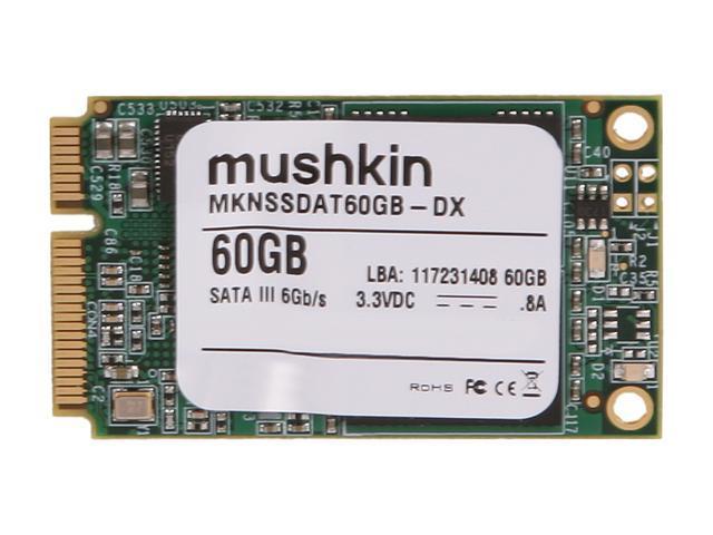 Mushkin Enhanced Atlas Series MKNSSDAT60GB-DX 60GB Mini-SATA (mSATA) MLC Internal Solid State Drive (SSD)