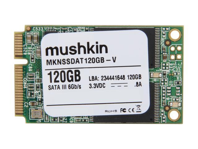 Mushkin Enhanced Atlas Series MKNSSDAT120GB-V 120GB Mini-SATA (mSATA) MLC Internal Solid State Drive (SSD)