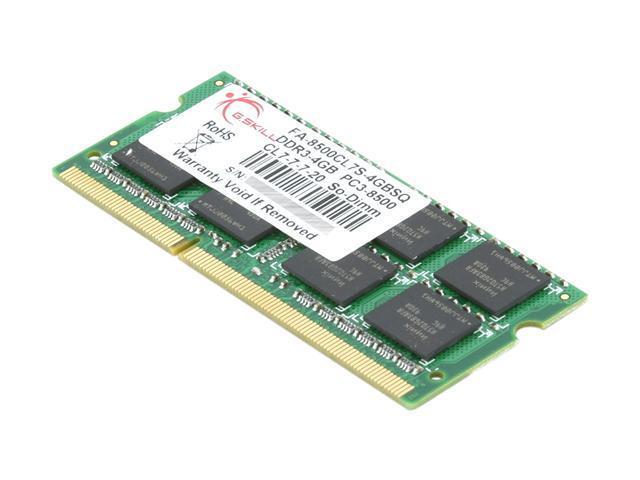 G.SKILL 4GB DDR3 1066 (PC3 8500) Memory for Apple Model FA-8500CL7S-4GBSQ