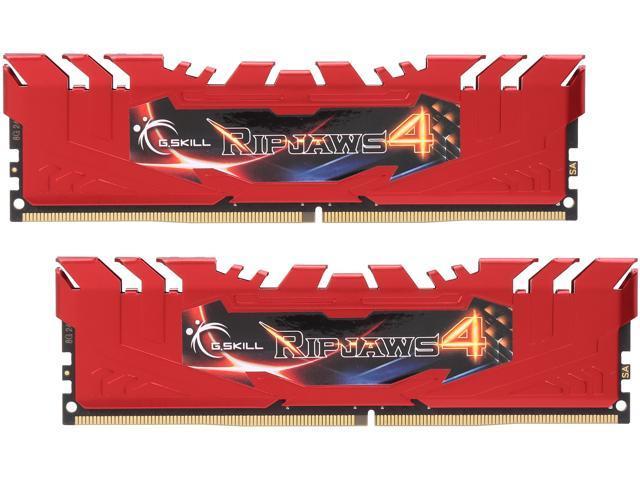 G.SKILL Ripjaws 4 series 16GB (2 x 8GB) 288-Pin DDR4 SDRAM DDR4 2400 (PC4-19200) Memory KitModel F4-2400C15D-16GRR