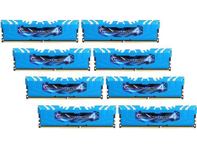 G.SKILL Ripjaws 4 series 64GB (8 x 8GB) 288-Pin DDR4 SDRAM DDR4 2666 (PC4-21300) Memory KitModel F4-2666C16Q2-64GRB