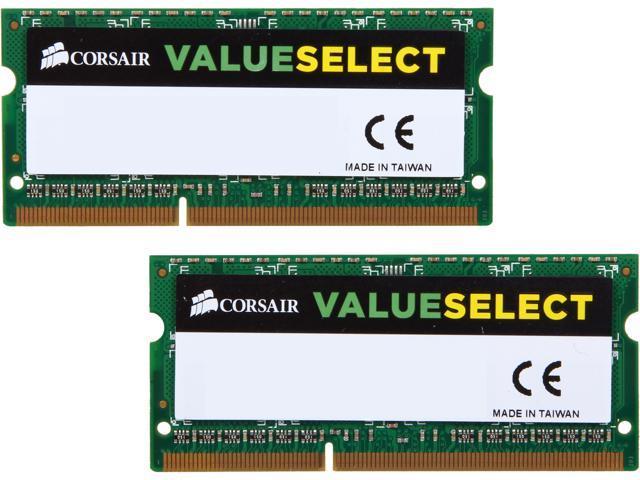 CORSAIR ValueSelect 8GB (2 x 4GB) 204-Pin DDR3 SO-DIMM DDR3 1066 (PC3 8500) Laptop Memory Model CM3X8GSDKIT1066 G