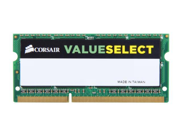 CORSAIR 8GB 204-Pin DDR3 SO-DIMM DDR3 1333 Laptop Memory Model CMSO8GX3M1A1333C9